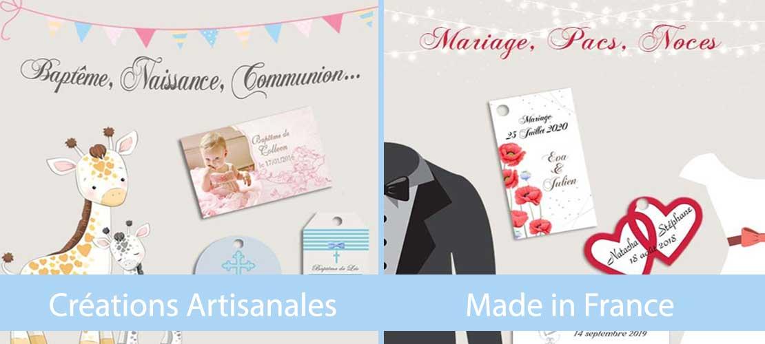 étiquettes à dragées baptême mariage